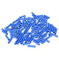 100X car audio wire butt connector blue vinyl 16-14 awg gauge ga terminal、Hot