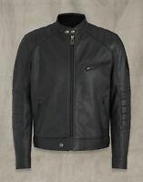 """Belstaff Mens Leather Biker Jacket Riser Black Large 42"""" RRP £695"""