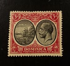 Dominica Scott 74 KGV and Seal of Colony Three Penny-Mint-NH