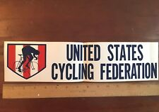 "United States Cycling Federation Bumper Sticker; 3.75""x 15"""