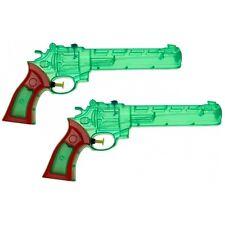 2x Wasserpistole Wasser-Pistole Spritzpistole Kanone Transparent Revolver 28 cm