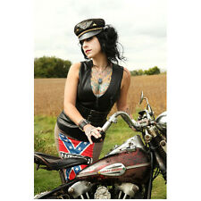 Danielle Colby-Cushing American Pickers Rebel by Motorcycle 8 x 10 Inch Photo