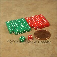 NEW 5mm 50 Green Red Mini Dice Set RPG Game Miniature 3/16 inch Tiny D6 Koplow