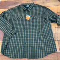 Columbia Silver Ridge Light Plaid Button Shirt Size 4X XXXXL New Plaid C113