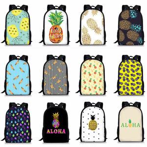 Cute Pineapple Backpack Girls School Bag Women Laptop Shoulder Satchel Rucksack
