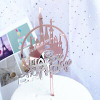 1PC Baking Cake Decor Acrylic Cake Topper Happy Party Birthday Cupcake Top Px
