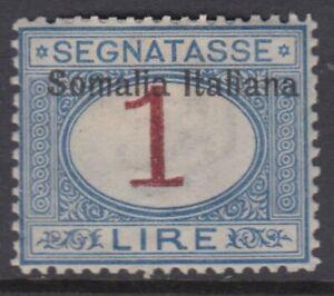 Italy Somalia Tax Sassone n.19 cv 600$ SUPER CENTERED  MH*