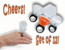 (12) Plastic Wedding Ring Shot Glasses Dozen 1 Dz Fun Party Favors & Supplies