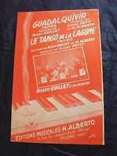Partition Guadalquivir Le tango de la lagune de R. Guillet et H. Alberto Tango