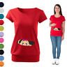 Maternity Pregnancy T-shirt Top Funny PEEK-A-BOO baby shower Peeking Girl/Boy