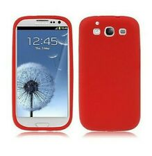 Cover Case Samsung Silicone Galaxy S3 i9300 Red Shell New