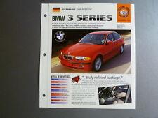 "1998 - Present BMW 3 Series IMP ""Hot Cars"" Spec Sheet Folder Brochure #1-63 L@@K"