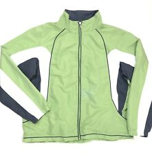 Aspire Womens Athletic Lightweight Full Zip Jacket Polyester Green Size XL