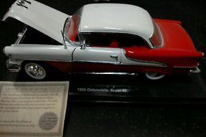 1955 OLDSMOBILE SUPER 88  National Motor Mint 1:24 Scale Die Cast w/COA