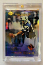 1999 PEYTON MANNING Edge Game Gear PIECE of FOOTBALL with Lettering. Card #PM2