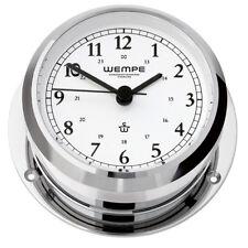 Wempe Cronometro Pirat II cromato Ø96mm Marittima Orologio parete Araba cifre