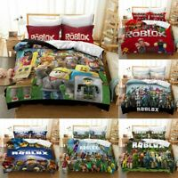 ROBLOX Bedding Set 3PCS Duvet Cover Pillowcase Comforter Cover US Size Kids Gift