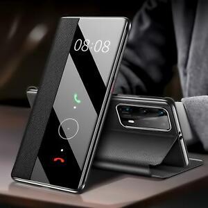Handy Hülle Smart Cover für Huawei P20 P30 P40 Lite Pro Schutzhülle Flip Cover
