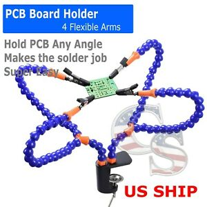 Helping Hands Third Hand Soldering Tool 4 Flexible Arms Six Arm Magnifier Tool