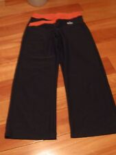 NIKE, WOMEN'S Black/Pink Poly Blend Exercise Pants, Size XS 0-2