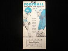 1964 TSN Football Handbook & Schedules Booklet