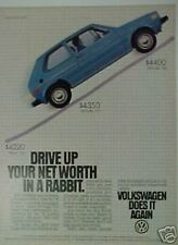 1980 Volkswagen Rabbit Drive up your net worth Car Ad