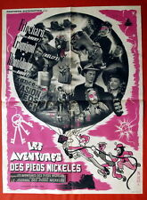 LES AVENTURES DES PIEDS NICKELES COMEDY 1948 RARE FRENCH MOVIE POSTER