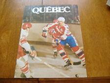 quebec nordiques  WHA game program  1975-76