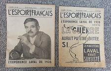 2 anciens journaux illustrés, L'Espoir français de 1942 LAVAL old french journal