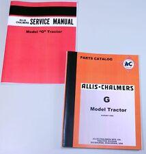ALLIS CHALMERS G TRACTOR SERVICE REPAIR MANUAL PARTS CATALOG TECHNICAL REPAIR AC