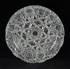 ABP American Brilliant Period Cut Glass Low Round Bowl