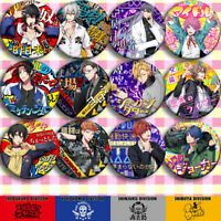 Anime HypnosisMic Division Rap Battle Cosplay Badge Button Set Pin Badge Gifts