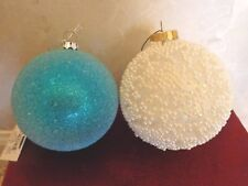 Two Beaded Christmas Ornaments (#2774)