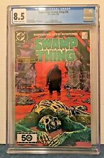 SAGA OF THE SWAMP THING 36 CGC 8.5 OFF-WHITE TO WHITE PAGES 2ND & LAST NUKE-FACE
