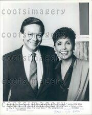 Spiegeleier TV Hosts Jim Hartz mit legendäre Sängerin Lena Horne Presse Foto