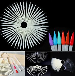 DIY Nail Swatches Color Display Nail Art Fan Wheel Polish Practice Pop Tip Stick