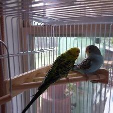 7'' Pet Parrot Supply Wood Corner Shelf Laddered Platform Stand for Birds Cages