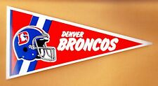 1980's OLD LOGO DENVER BRONCOS PENNANT DECAL STICKER UNSOLD STOCK