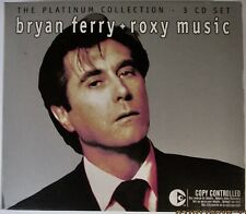 BRYAN FERRY + ROXY MUSIC THE PLATINUM COLLECTION 3 CD SET