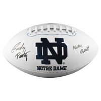 Rudy Ruettiger Signed Never Quit Inscription Notre Dame Fighting Irish Official