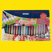 StyleX 23384 Glitzerkleber 24 Glitter Glue Tuben A 10 G