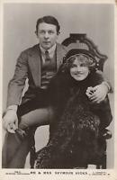 1911 VINTAGE GLAMOUR MR & MRS SEYMOUR HICKS POSTCARD - sent to Gloucester