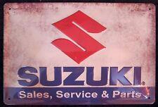 SUZUKI LOGO MOTORRAD, BLECHSCHILD