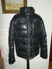 Veste doudoune plumes/duvet noir brillant surpiquée SNOWIMAGE M 40 10UK 38D