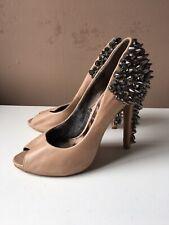 SAM EDELMAN ladies beige leather high heel shoes size 5/38