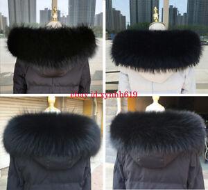 Natur schwarz Waschbär Kragen Pelzkragen Fell Echt pelz Raccoon für Jacke Mantel