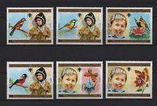 Nordjemen : Mi.Nr. 1602-07 Vögel/Schmetterlinge postfrisch