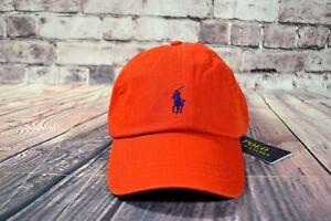 NWT MEN'S POLO RALPH LAUREN ORANGE HAT CAP CLASSICS ADJUSTABLE ONE SIZE