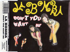 "LA BOMBA ""DON'T YOU WANT ME"" RARE SPANISH CD SINGLE / THE HUMAN LEAGUE COVER"