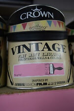 Crown Vintage Flat Matt Emulsion Paint For Interior Walls Ceilings Pin-up Pink